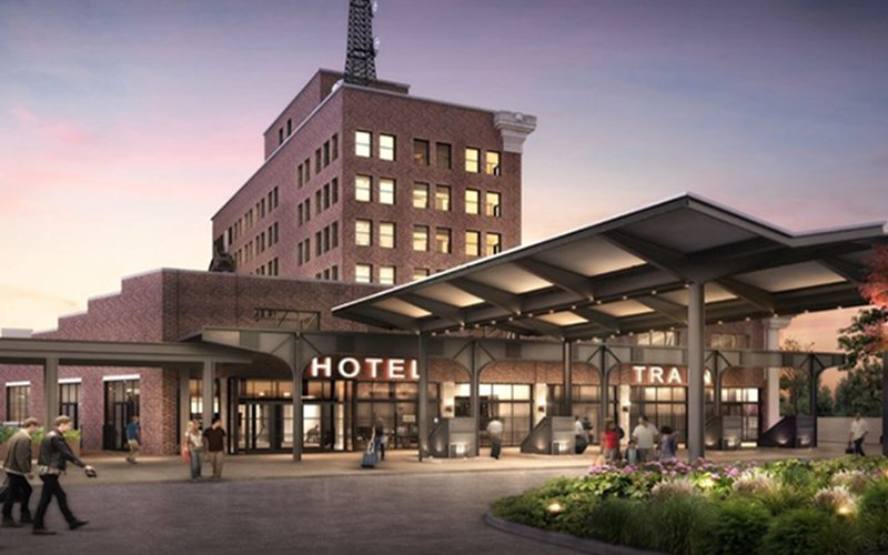 The Central Station, now transformed into a luxury eight-story hotel, is set to open in October 2019.