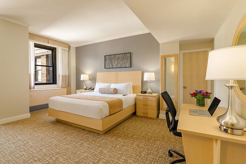 One of the Hotel Pennsylvania's renovated guestrooms