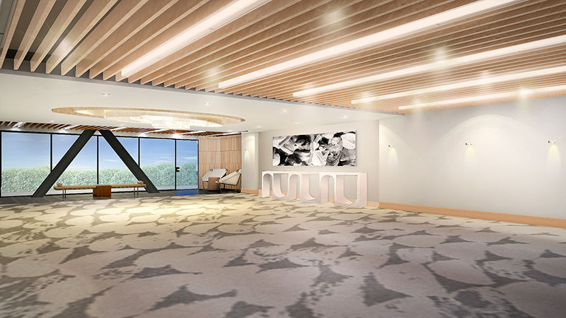 Rendering of one of the new meeting venues at the W West Los Angeles - Beverly Hills