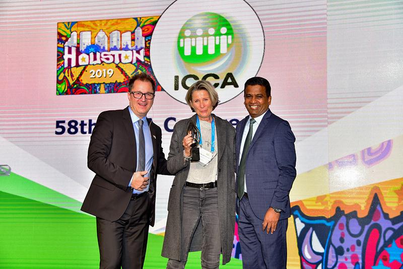 ICCA President James Rees, Deputy Director of the Vienna Convention Bureau Ulrike von Ulrike von Arnold and ICCA CEO Senthil Gopinath
