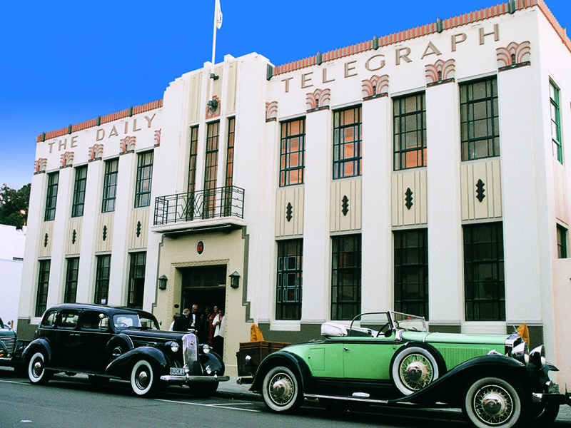 Napier, in New Zealand's Hawke's Bay region is world-renowned for its collection of Art Deco buildings.