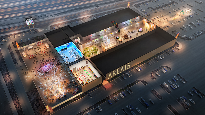 Rendering of AREA15 opening in Spring 2020.