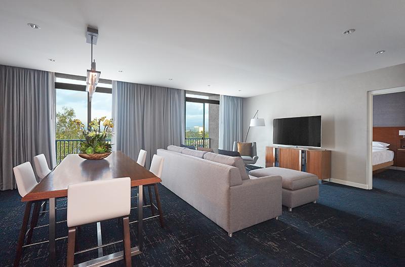 A suite at Hyatt Regency John Wayne Airport Newport Beach in Orange County, Calif.