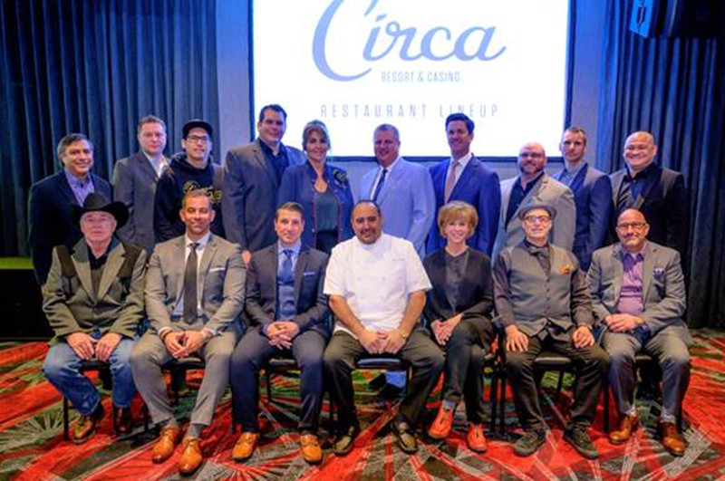 Back row, left to right: Sonny Ahuja, Don Welch & Dan Coughlin (8 East); Chris Sotiropoulos & Grace Keros (Victory Burger & Wings Co.); Derek Stevens, Greg Stevens; Rob Baker, Mo Pierce & Chef Rex Bernales (Project BBQ)  Front row, left to right: Donnie Rihn, Yassine Lyoubi, Marco Cicione and Chef Barry S. Dakake (Barry's Downtown Prime); Ann Lofgren, Paul Saginaw & Steve Mangigian (Saginaw's Delicatessen)
