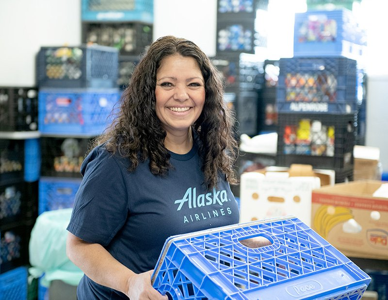 Alaska Airlines launches #MillionMealsChallenge to feed families in need.