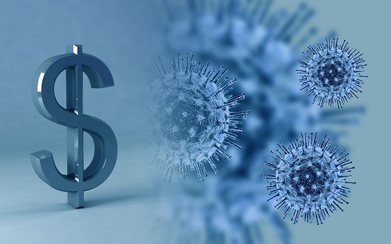 coronavirus dollar sign