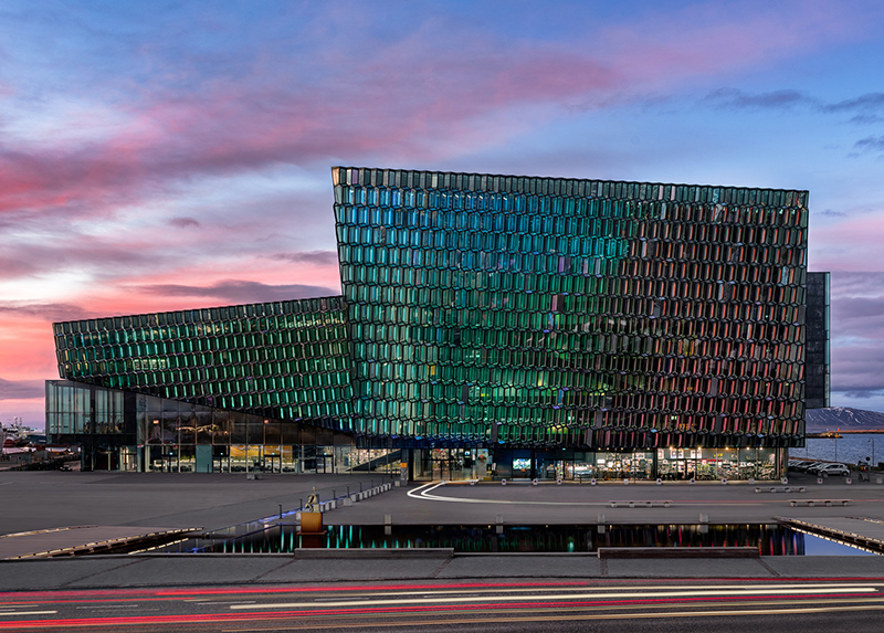 Harpa Concert Hall and Conference Center in Reykjavík