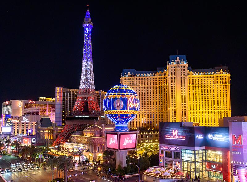 Eiffel Tower Light Show at Paris Las Vegas