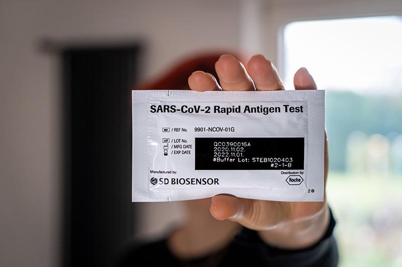 At-home COVID antigen test