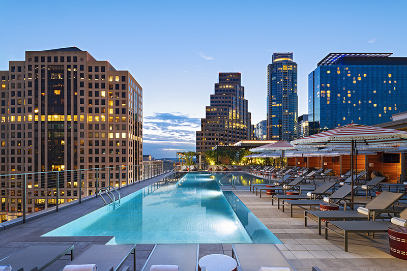 Austin Marriott Downtown pool
