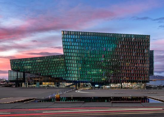 Harpa Concert Hall and Conference Center in Reykjavík