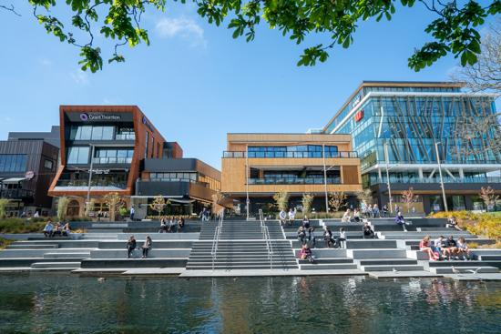 The Terrace, along the central city riverfront near Te Pae Christchurch