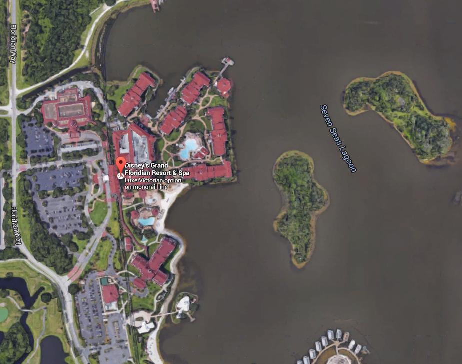 Grand Floridian Google Map
