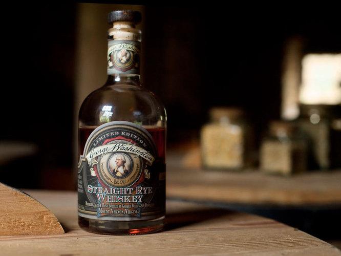 George Washington Rye Whiskey signed by Bill Clinton