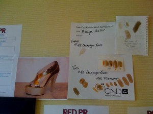 A gold sandal provides the inspiration for Monique Lhullier