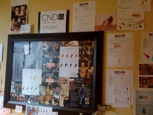 The CND studio's walls are lined with concepts and inspirations for different shows
