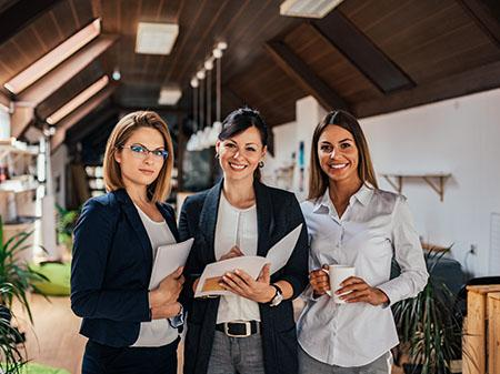 Professional team of women