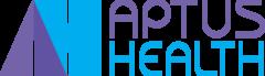 aptus health logo purple and blue