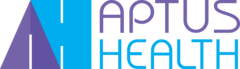 aptus health logo purple and blue