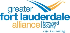 logo of greater for lauderdale blue and yellow in color