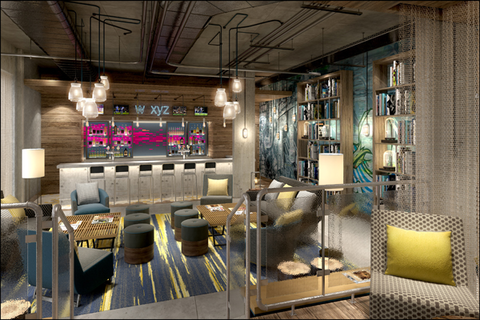 Aloft Brighton WXYZ Bar