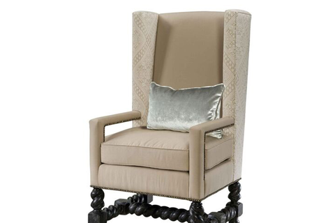 Dining wing chair by Blue Leaf Hospitality
