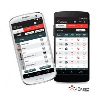 ABreez mobile minibar system app