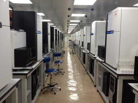 A sequencing room at BGI Hong Kong