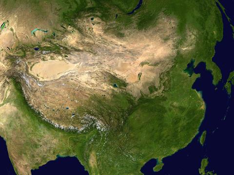 China Satellite map