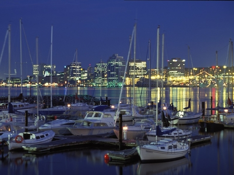 Downtown Halifax, Nova Scotia, as seen from the Dartmouth waterfront