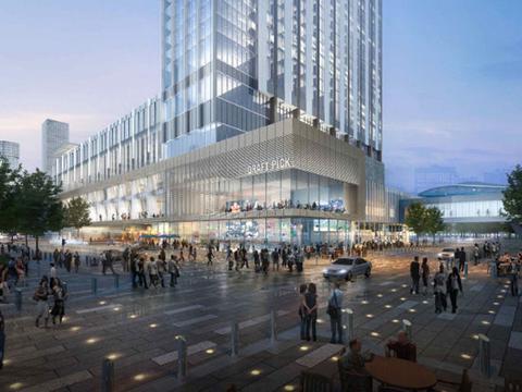 Marriott Marquis Houston building rendering