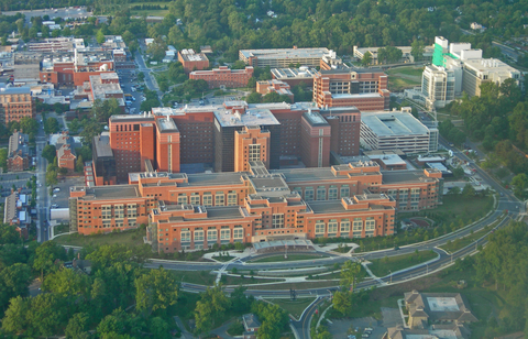 aerial view of NIH campus