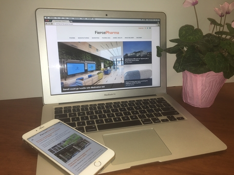 laptop against white background