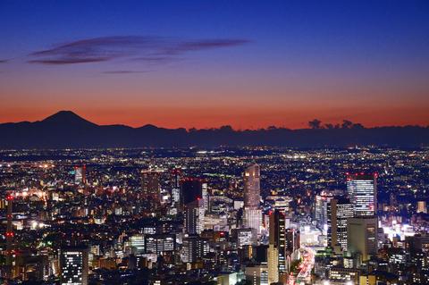 Tokyo City with Mt.Fuji