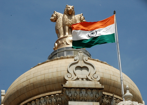India Parliament flag