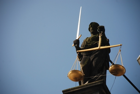 Lady Justice with a sword