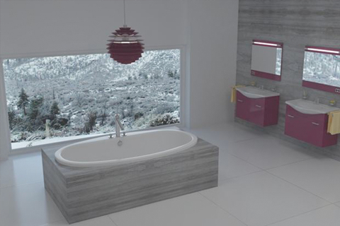 Snow bathtub