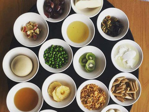 Various food items in small bowls