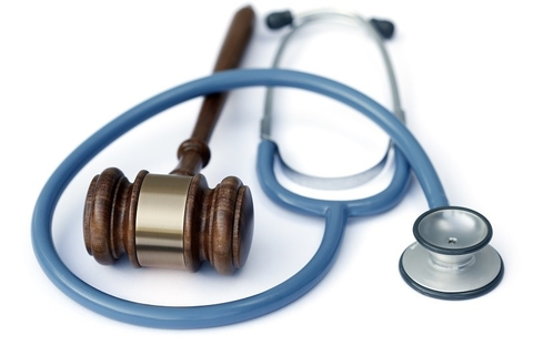 Court mallet and stethoscope