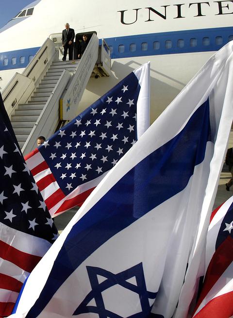 Israel-US flags