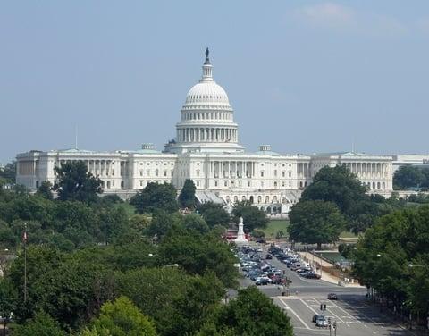 wide-range view of U.S. Capitol building