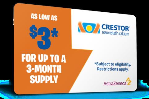 Crestor card