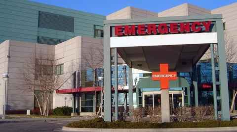 Entrance to a hospital emergency department