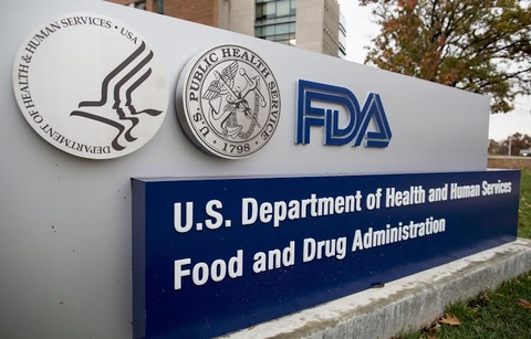 A large sign indicating the location of the U.S. FDA building