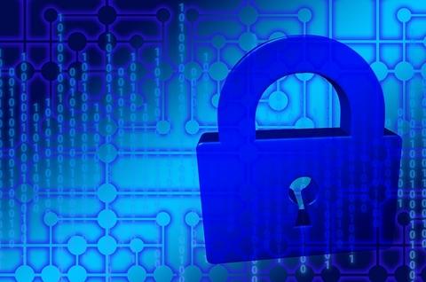 A blue padlock