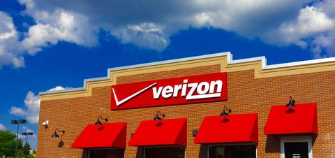 Sign outside a Verizon Wireless store