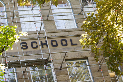 exterior of school building