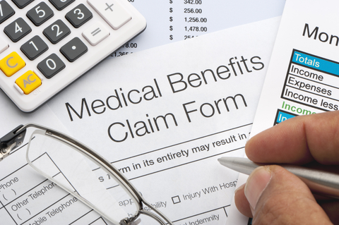 Insurance claims form documents