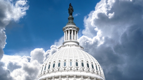 Top of Capitol building in District of Columbia