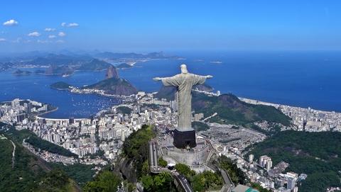 A statue of Christ above Rio de Janiero
